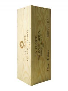 奥比昂副牌白葡萄酒 2015 原装木箱 1 支大瓶 (1x150cl)