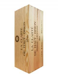 奥比昂副牌白葡萄酒 2015 原装木箱 1 支双倍大瓶装 (1x300cl)