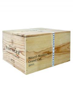 巴达-蒙哈榭 名庄 法维莱酒庄 2011 原装木箱 6 支标准瓶装 (6x75cl)